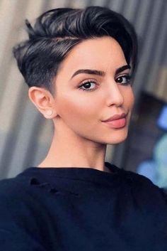 30 best short haircuts for women, Black undercuts # short hair cuts # short hair styles # undercut. Short Pixie Haircuts, Pixie Hairstyles, Haircut Short, Undercut Short Hair, Trending Hairstyles, Short Womens Hairstyles, Pixie Cut With Undercut, Messy Pixie Haircut, Chic Haircut