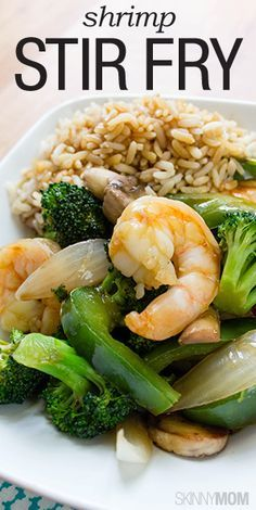 You have to try this skinny shrimp stir fry!