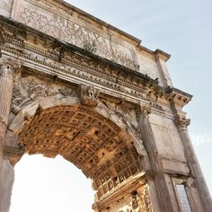 If the Arch of Titus looks familiar to you, it's probably because the monument is the inspiration for Paris' Arc de Triomphe.  Arch of Titus, Rome, Italy