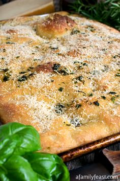 Focaccia - An easy to make homemade Italian bread. This bread is perfection!