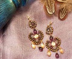 Purple Princess gold filled and Swarovski by by OhlalaJewelry, $110.00  #swarovski #gemstone #beads #etsy #handmade #earrings