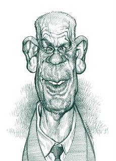 Artist:Jan Op De Beeck   Caricature:John Malkovich