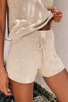 Short Outfits, Cute Outfits, Short Tejidos, Loungewear Outfits, Home Outfit, Oui Oui, Knit Shorts, Lounge Wear, Knitwear