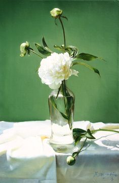 Yingzhao Liu Artist, Chinese Realism, Still life, Oil, Figurative, Florals,