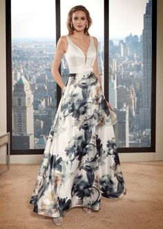 Vestidos de Fiesta Largo - Matrimonios.cl Waist Skirt, High Waisted Skirt, The Dress, Tie Dye Skirt, Evening Dresses, Ideias Fashion, Cocktails, Skirts, Wedding
