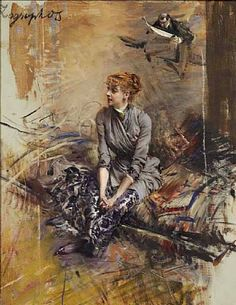 Portrait Of Madame Gabrielle Rejane  Artist: Giovanni Boldini  Style: Impressionism