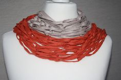 Weiteres - Loop Schlauchschal beige orange Mode Tuch - ein Designerstück von trixies-zauberhafte-Welten bei DaWanda