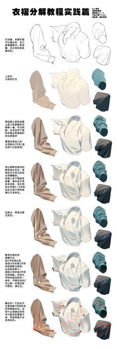「「中国語注意」衣褶分解メイキング」/「零@SAN値不足」の漫画 [pixiv]