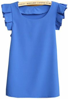 Stitch fix/ Blue Round Neck Pleated Short Sleeve Chiffon Blouse pictures Summer Outfits, Cute Outfits, Summer Clothes, Pleated Shorts, Work Looks, Look At You, Classy And Fabulous, Who What Wear, Playing Dress Up