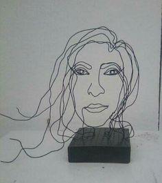 self portrait wire sculpture