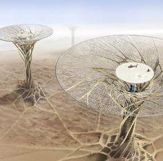 Китайские архитекторы предложили концепцию небоскрёба-гриба в Сахаре. Изображение №2.