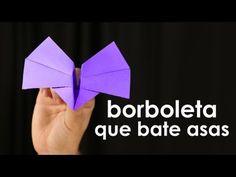 Borboleta que bate as asas (origami fácil)