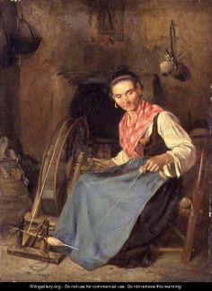 Woman Spinning - Thomas Stuart Smith