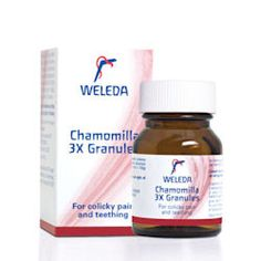 Chamomilla for teething and colicky pain