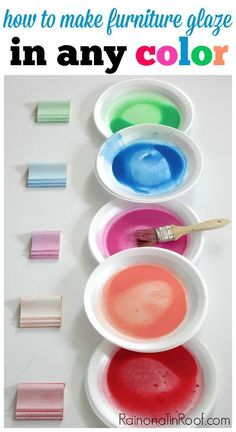 This is totally going to change furniture makeovers! You can make ANY color of furniture glaze - and its so easy! Perfect way to get the beach look and for kid's rooms! How to make furniture glaze in any color