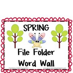Part of my SPRING UNIT!Students can take this to their desk when working on a writing activity. It works well for those kiddies who have di...