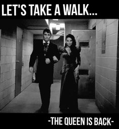 """Let's take a walk"" -Evil Queen- 5x03 ""The Other Shoe"" #onceuponatime #evilqueen #season6 #ouat #once"