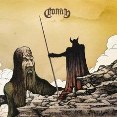 A Viking killing a giant? who cares … it's a badass album cover