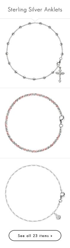 """""""Sterling Silver Anklets"""" by jewelryaffairs ❤ liked on Polyvore"""
