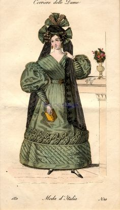 Dress, 1830 Italy, Corriere delle Dame