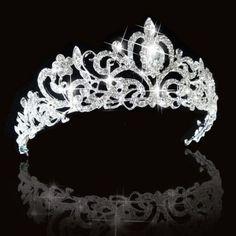 Grace Wedding Bridal Princess Austrian Crystal Hair Accessory Tiara Crown Silver