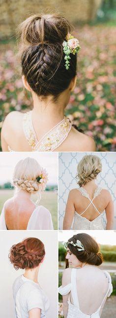 Boho Updo Bohemian Bridal Hairstyles