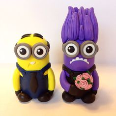 Minion Wedding Cake Topper Choose Your Colors by topofthecake