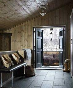 as in ski chalet. as in ski chalet. Chalet Design, House Design, Cabin Interiors, Rustic Interiors, Cabin Homes, Log Homes, Chalet Interior, Interior Design, Scandinavian Cabin