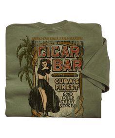 Cigar Bar - Hemp-Dyed The Classic Crew Crazy Shirts, Cigar Bar, Dye T Shirt, Santa Maria, Cigars, Hemp, Crew Neck, Classic, Derby