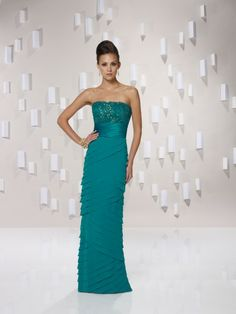 Chiffon Empire Strapless Floor-length Special Occasions Dress