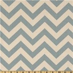blue/grey Chevron pattern - Shower curtain fabric and/or curtains $7.48 per yard