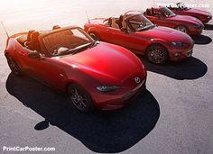 Mazda MX-5 2016 poster, #poster, #mousepad, #tshirt