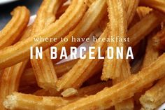 From croissants to chocolate and churros, don't miss out on the most important meal of the day with some of the best places to eat breakfast in Barcelona!