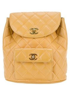 3b58b26a6fb3 Chanel Vintage Quilted Backpack - Farfetch