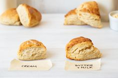 butter scones - Flourish - King Arthur Flour: Learn how to make ultra-tender cream scones no matter what kind of dairy is in your fridge. Our simple substitution will teach you how. Drop Scones, Cream Scones, Scone Recipe With Heavy Cream, Basic Scones, Lemon Bundt Cake, Cream Tea, King Arthur Flour, Artisan Bread, Baked Goods
