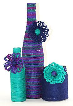 yarn covered bottles