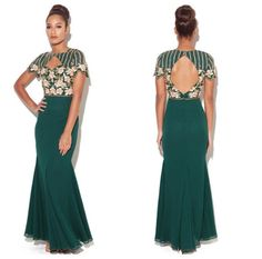 bde9701e9d6 Details about Virgos Lounge Green Hannah Sweetheart Embellished Party Gown  Maxi Dress 6 - 14