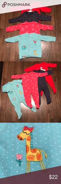 Singlet Bundle Good condition. Four snuggly singlets. Two from M&S (Marks & Spencer) and two from next baby - all purchased in the U.K. Snap closures. Two with anti-skid footies. M&S/next baby One Pieces
