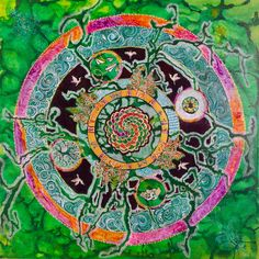 """[Blog Post] """"The Law of Correspondence"""" - Mandala # 4 in a series on the 12 Universal Laws in the Enter the Mandala Project. Read all about the intuitive and creative process behind this painting in my blog at http://www.dominiquehurley.com/enter-the-mandala-the-law-of-correspondence/"""