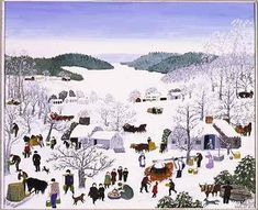 "Anna Mary Robertson ""Grandma"" Moses Sugaring Off, Fenimore Art Museum, Cooperstown, NY, © 2007 Grandma Moses Properties C. Grandma Moses, Nature Artists, Primitive Folk Art, Naive Art, Tribal Art, Traditional Art, Art Museum, Street Art, History"