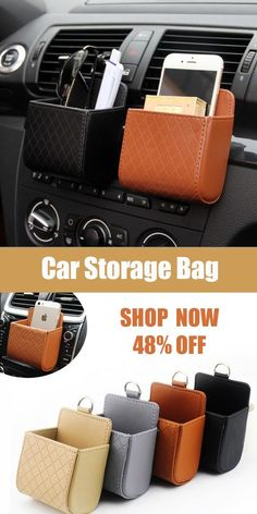 """The post """"Auto Air Vent Car Storage Bag /Multi-functional Pu Phone Bag& Bag"""" appeared first on Pink Unicorn DIY Accessoires Pour Camping Car, Diy Organizer, Car Organizers, Cute Car Accessories, Car Gadgets, Car Hacks, Car Storage, Cute Cars, Car Cleaning"""