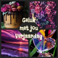 Happy Birthday Images, Afrikaans, Flower Cards, Birthday Wishes, Halloween, Quotes, Flowers, Happy Birthday Pictures, Wishes For Birthday
