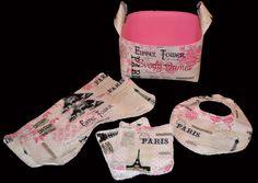 Paris in Pink Baby Gift Basket or Gift Basket Set by DesignsByJenn48 on Etsy