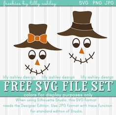 Freebie Scarecrow SVG cut file set