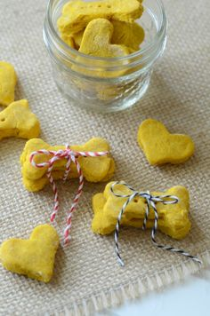 Homemade Pumpkin & Brown Rice Flour Dog Treats ~ http://aimeebroussard.com