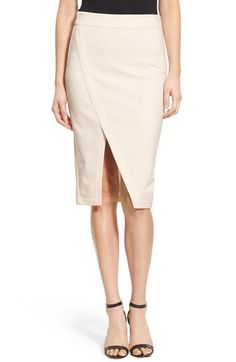 cupcakes and cashmere 'Glenn' Ponte Wrap Front Skirt available at #Nordstrom