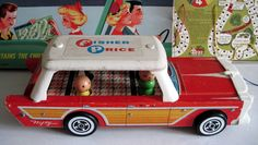 O.M.G.  I have never seen this before!  Fisher Price Nifty car 1960