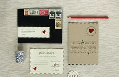 Love Letter Wedding Invitations vintage inspired wedding stationery 3