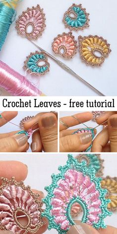 Crochet Leaves / Leaf These beautiful leaves are great for decoration. Learn how to crochet them with free video tutorial. The post Crochet Leaves / Leaf appeared first on Home. Crochet Leaves, Crochet Motifs, Freeform Crochet, Crochet Flowers, Crochet Stitches, Crochet Hooks, Crochet Crafts, Crochet Projects, Sewing Projects