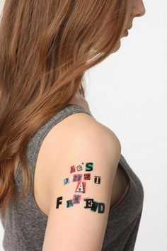 Letter Press temporary tattoos. Cool.